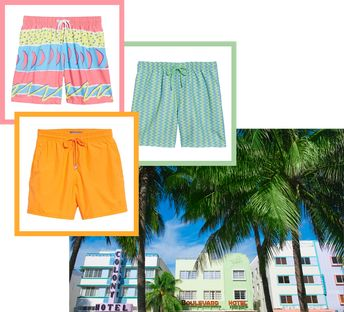 4af92bdf64 Men's Swimsuits Inspired by Miami | Your summer swimwear is officially  sorted by destination. Yup
