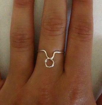 Zodiac Sign Ring Taurus by CaseysWireOwlet on Etsy