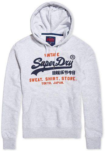 ee08cfe62dda22 Superdry Men s Logo Hoodie - Gray S