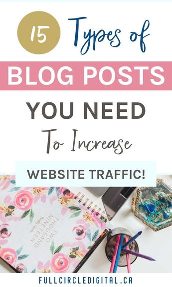 15 Types of Blog Posts To Grow Your Website Traffic - Full Circle Digital