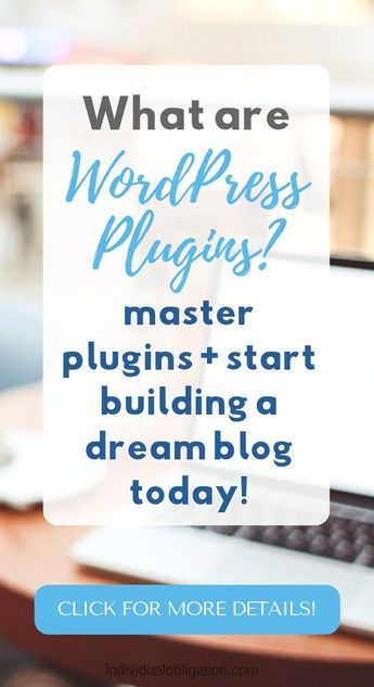 Have you always wanted to build an amazing WordPress blog for your ideas? Well with WordPress plugins, you can. This WordPress for beginners guide will show you how to use WordPress plugins and give you WordPress tips for using plugins on your website. Click to read more #bloggingforbeginners #bloggingtips #blogging #website #WordPress #wordpresstips #wordpressforbeginners