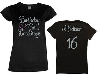 Birthday Girl Entourage Shirt with Heart  by MagicalMemoriesbyJ