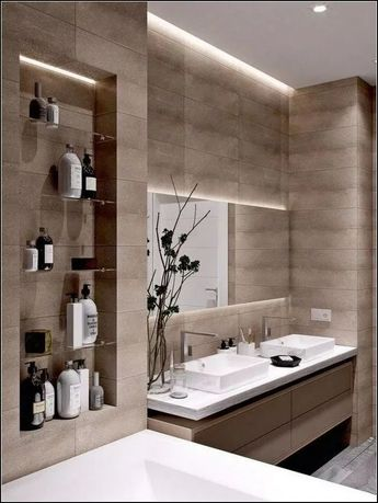 120 pretty unique modern bathroom decoration ideas -page 18