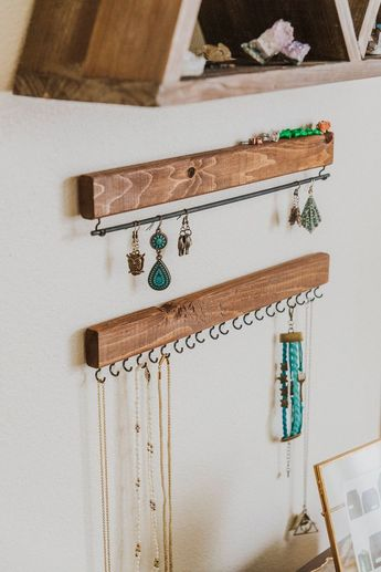 Jewelry Display - Jewelry Tree - Mounted Jewelry Display - Jewelry Organizer - Wooden Home Decor - Functional Decor - Wood Jewelry Organizer