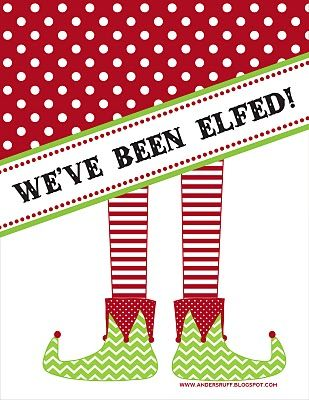 """""""You've Been Elfed"""" Door Signs and Instructions"""