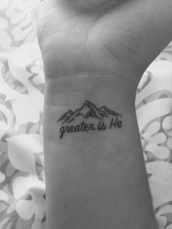 Just a daily reminder that God is greater than anything and anyone. Love my new tattoo, 1 John 4:4. ❤️