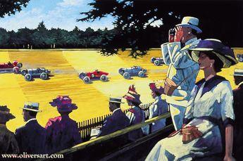Auto & divers vehicules en peintures de Barry Rowe
