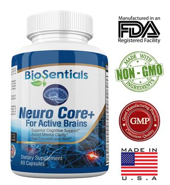 NeuroCore   The ExtraStrength Nootropic Brain Booster Supplement  Fast Acting AllNatural BioSentials Focus Brain Memory Supplements Promote Rapid Recall Crystal Clarity and AllDay Energy -- Continue to the product at the image link. (This is an affiliate link)