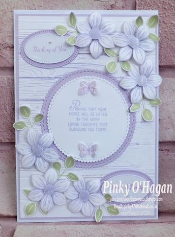 Pinky's World Stampin' Projects: Floral Essence Sympathy Card