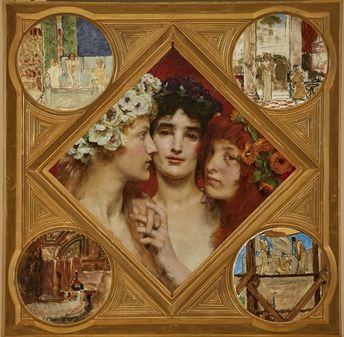 Sir Lawrence Alma-Tadema | The Three Graces