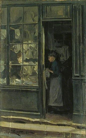 Walter Richard Sickert - The Laundry Shop
