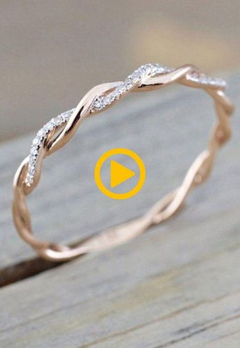 Simple Dainty Everyday Ring Fashion Jewelry for Teens Women's Stakable Crystal...