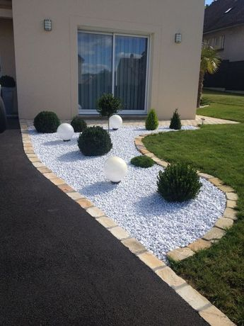 How to Decorate a Flowerbed with a Stone: 28 Photo Ideas | Decor Ideas #bed #d #flowerbed #decor #correct