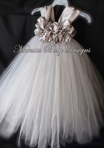 COLOR OF DRESS Can Be Changed! / Grey Flower Girl Dress / Silver Flower Girl Dress