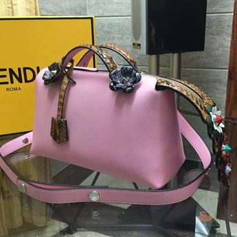 1a9319ea6f Fendi Soft Python Flowerland By The Way Small Boston Bag Pink 2016