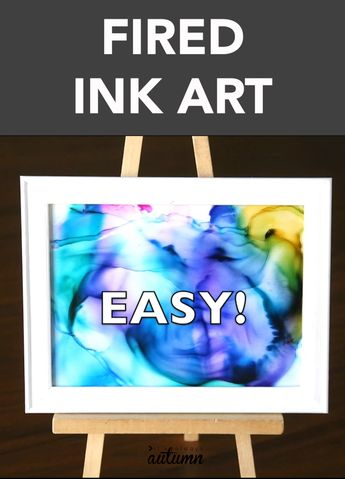 How to make gorgeous fired alcohol ink art {it's so easy