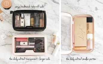The Daily Edited Transparent Cosmetic Case Review via The Beauty Look Book