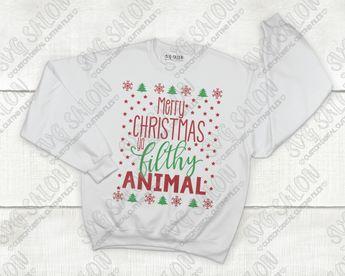 Merry Christmas Ya Filthy Animal Svg.Merry Christmas Ya Filthy Animal Cut File In Svg Eps Dxf