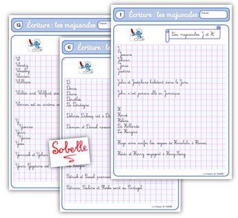 Fichier d'écriture CE2-CM1 : les majuscules | La Trousse de Sobelle | Bloglovin'