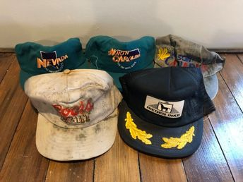 b61dcc595e0 Vintage Mesh Patch Trucker Trucking Farmer Snapback Hat Ball Cap 5 Piece  Lot  fashion