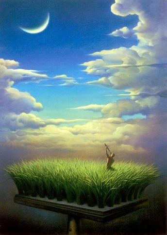 """Rus bir sürrealist ressam ve heykeltraştır. Buna karşın kendisi, sanatını """"metaforik realizm"""" olarak adlandırmayı tercih eder. Vladim..."""
