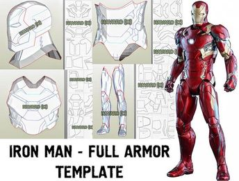 List of eva foam armor template iron man image results | Pikosy