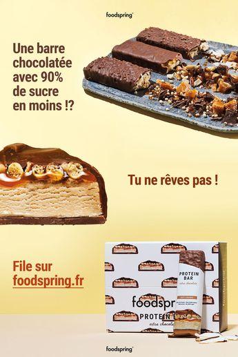 Nos barres chocolatées sont là pour 24,99 € la boite de 12 !    ✓ 90% moins de sucre   ✓ Jusqu'à 8x plus de protéines   ✓ 50% moins de glucides