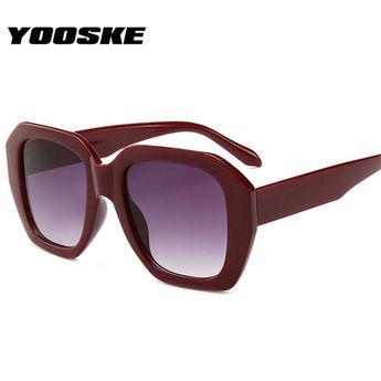 2a8b3d07e0f  Fashion  BestPrice YOOSKE Retro Oversized Sunglasses Women 90s Big Frame  TYJ1574  Discounts