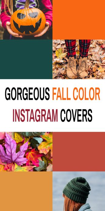 Fall Autumn Color Scheme Instagram Story Highlight Covers | 28 Ready to Use Templates | Bloggers, Lifestyle, Fashion, Craft, Photography