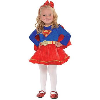 Baby Classic Supergirl Costume - Superman Party City