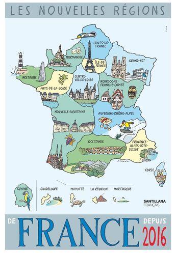 Les nouvelles régions de France depuis 2016