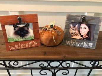 Pet Dog Frame You Had Me At Woof Wooden Picture Frame