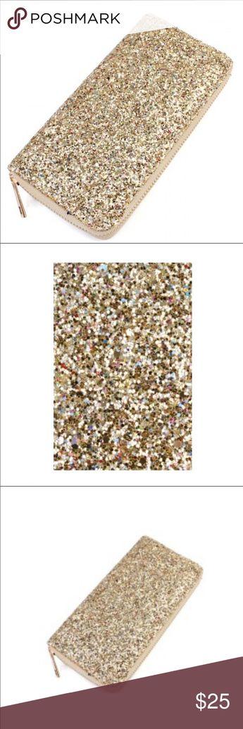 46ac88574c8cb NIB Gold Glitter wallet ✨ NIB Gold Glitter Wallet Great stocking stuffer or  🎁 gift Size
