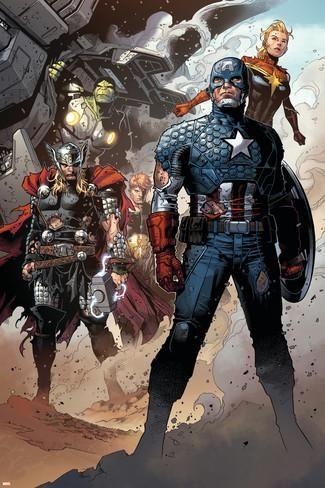 Infinity No. 6: Thor, Captain America, Hyperion, Hulk, Captain Marvel Prints