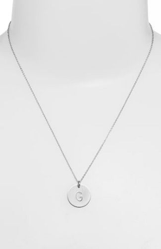 15f631d8dc49c Women's Nashelle Sterling Silver Initial Disc Necklace #ne