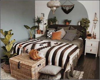 133+ funky boho luxe bedroom 34