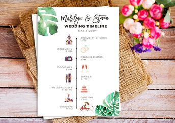 individual wedding program daily schedule with schedule a
