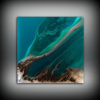 Wall Decor, Fine Art Print, Colorful Artwork, Square Print, Gifts For Her, Bright Wall Art, Trendy Wall Decor, Trending Art, Art Aqua Decor