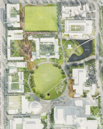 Landmark Landscape Rendered Plan - Toronto - Public Work Office for Urban Design & Landscape Architecture / Plan by Future Landscapes