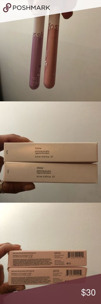 NIB Glossier Lidstar Eye Glow in Slip and Lily Two Glossier long-lasting cream eye glows in Slip and Lily. Super pretty, but not for me unfortunately. Both come new in their boxes, unopened, never used or swatched. Glossier Makeup Eyeshadow