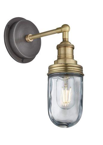 Brooklyn Outdoor & Bathroom Wall Light in Brass by Industville