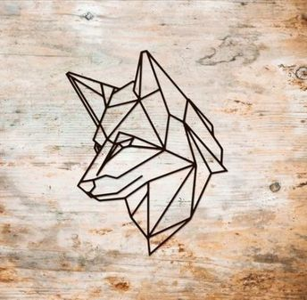 21+ ideas origami tattoo dog geometric animal #tattoo #origami