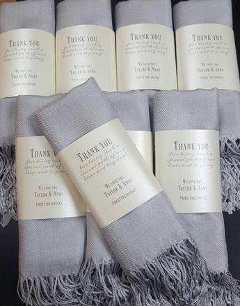 Pashmina 8pc - Personalized shawl - Bridesmaids gifts - Wedding favors - Customized scarves