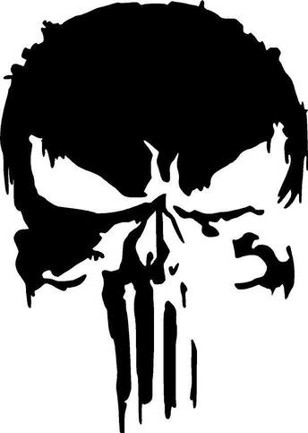 Details about New Marvel Punisher Skull Premium Vinyl Decal