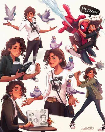 Mcu mj, Spider-Man, far from home, zendaya
