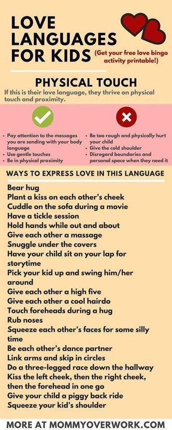 5 Love Languages for Children: 100+ I LOVE YOU'S + FREE Printable Bingo