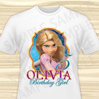 Rapunzel Birthday Girl Iron On Transfer Printable Shirt Tangled