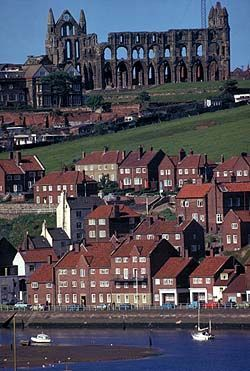 Whitby and Whitby Abbey, North Yorkshire, UK: