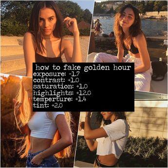 vsco filter (golden hour)