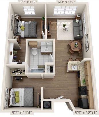 Beautiful house plan with furniture #housedesign #houseplans #houseplantdecorideas #furniturelayout